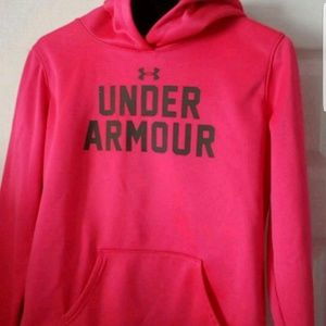 Under armour hot pink hoodie YXL